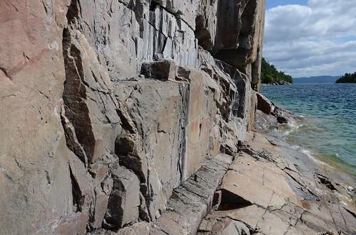 Lake Superior pictograph wall