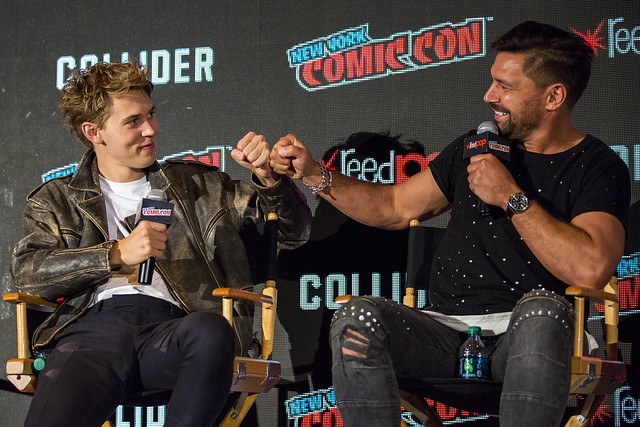 Austin Butler and Manu Bennett