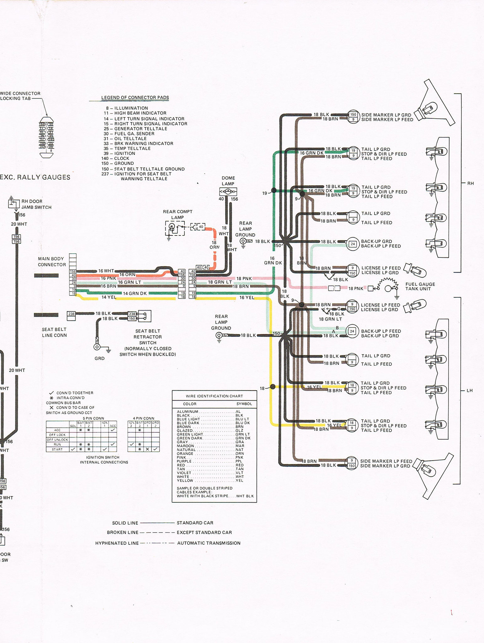 1980 Firebird Esprit Wiring Main Harness Diagram : 48