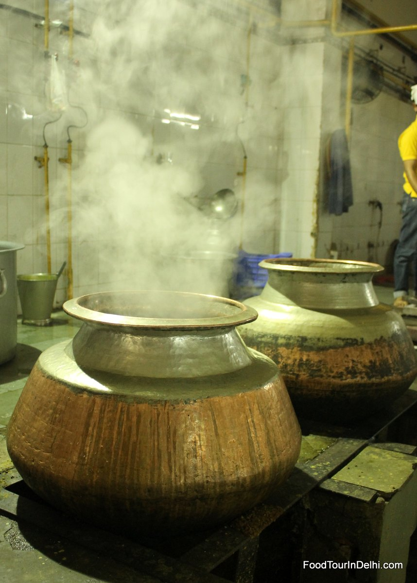 Food being cooked in a charitable kitchen