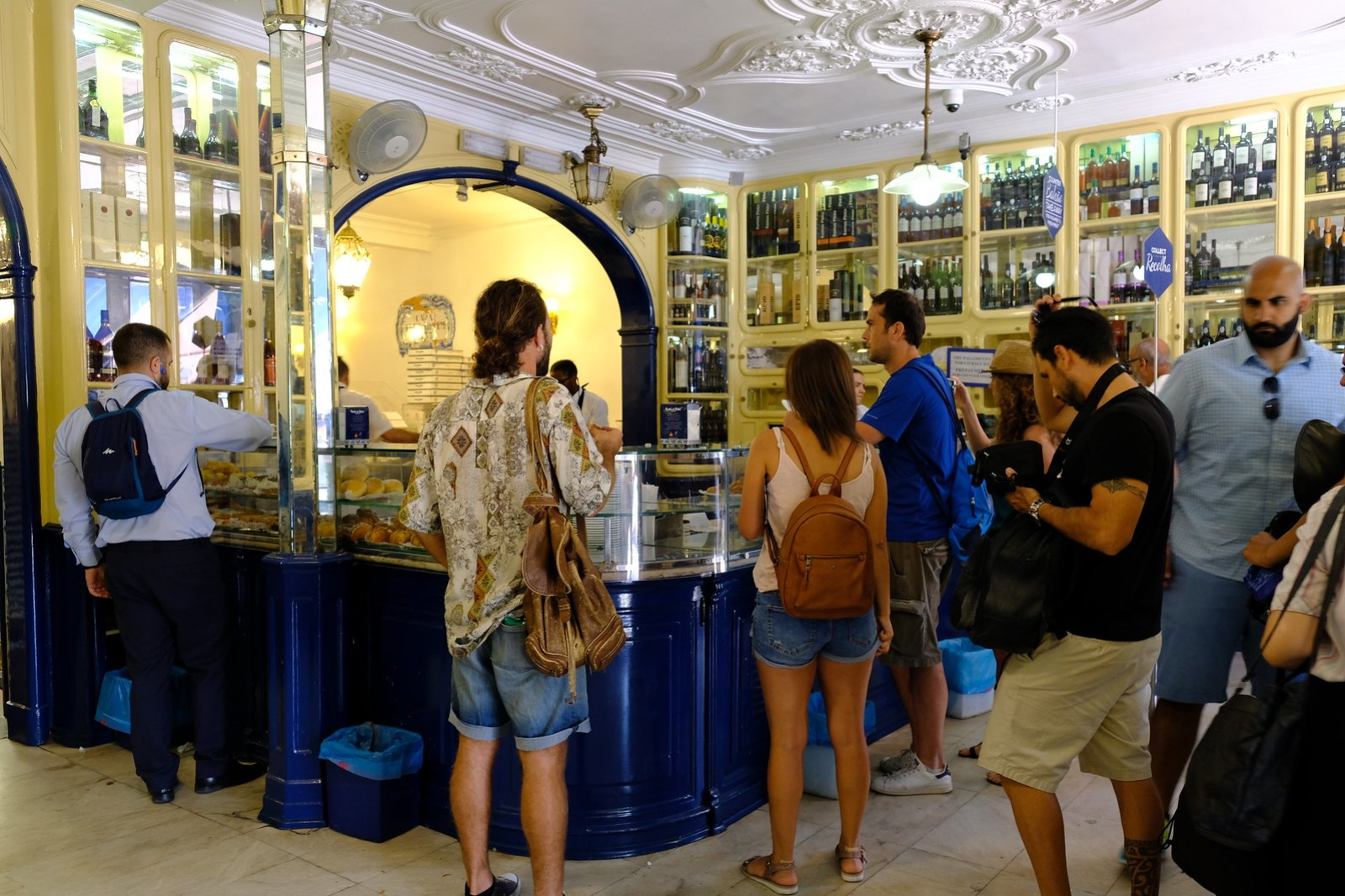 Inside the Lobby of Pasteis de Belem
