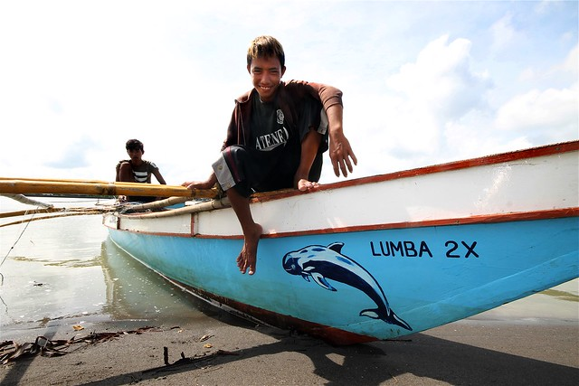 Irrawaddy Dolphin Painted on a Bangka (Outrigger Boat)