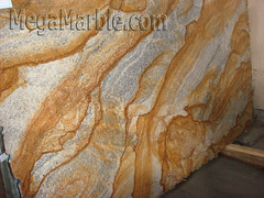 Caramel Gold or Yellow River Granite slabs for countertop