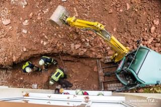 Bauarbeiter verschüttet Georgenborn 02.11.17