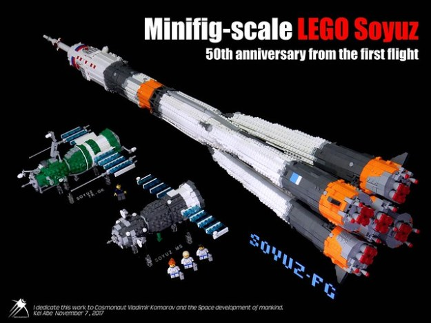 Minifig-scale LEGO Soyuz-0