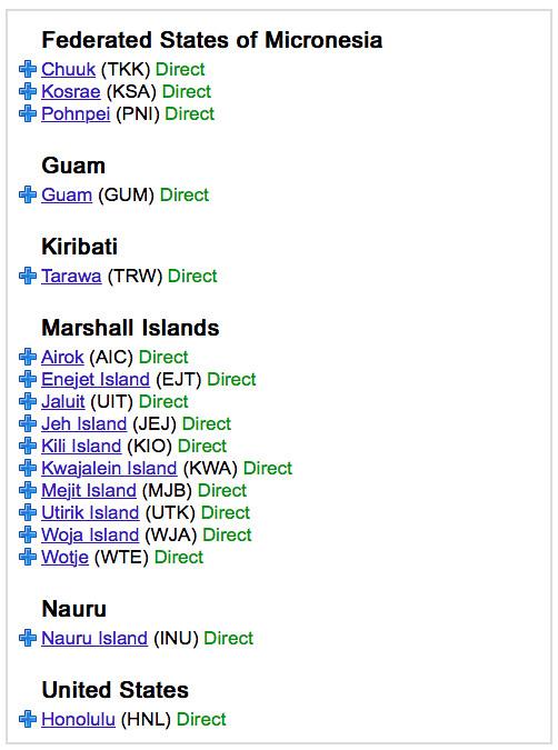 Majuro Direct Flights