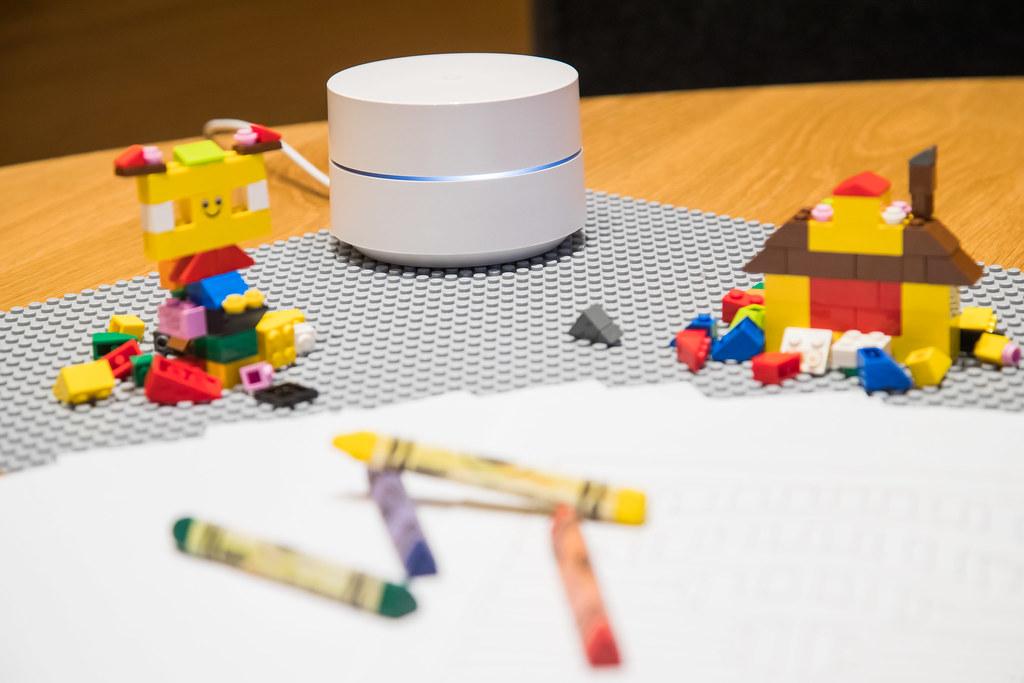 Google Wifi in a kids' playroom