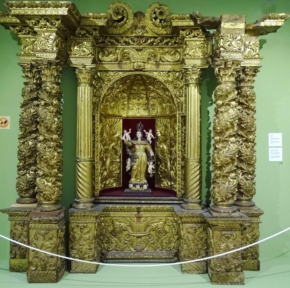 Museo Popol Vuh retablo del s. XVIII Periodo Colonial Ciudad de Guatemala 11