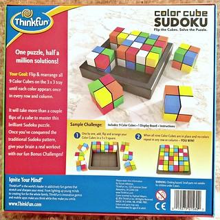 Color Cube Soduku ~ Game Gift Idea