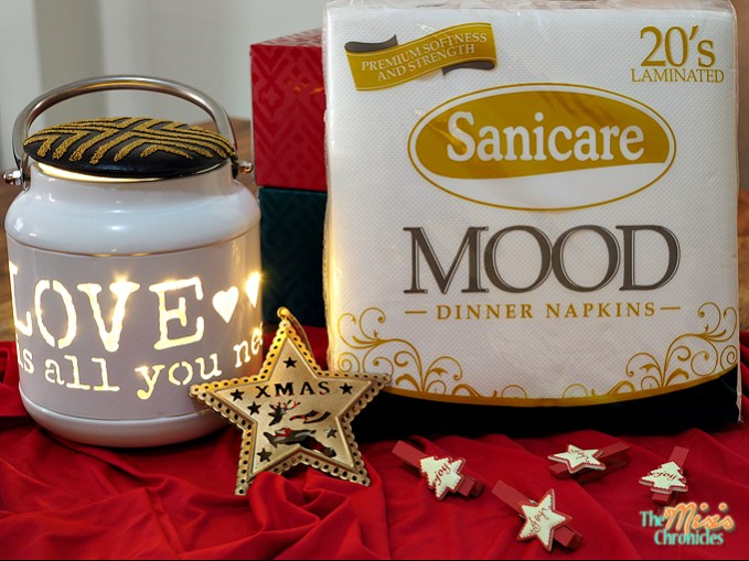 Sanicare Mood Dinner Napkins in white
