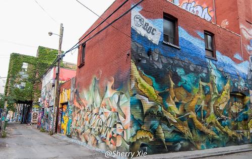Toronto Queen Street West Graffiti Alley