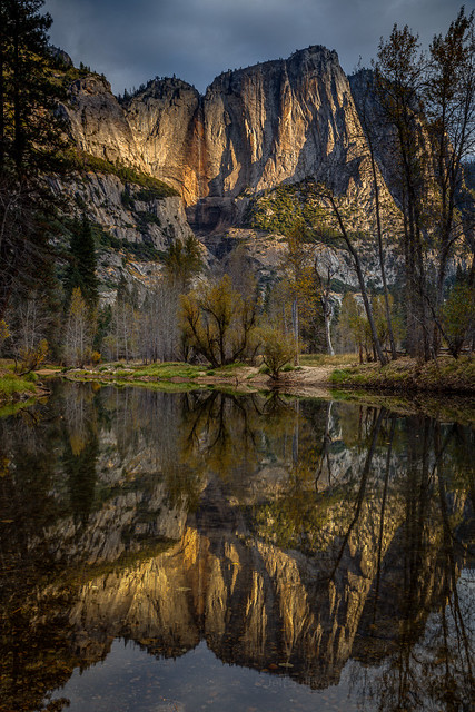 Merced River Morning Light Reflection, Yosemite National Park, California