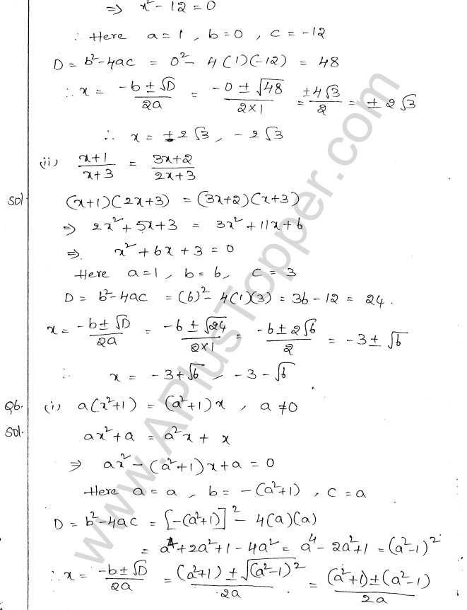 ml-aggarwal-icse-solutions-for-class-10-maths-chapter-5-quadratic-equations-in-one-variable-20