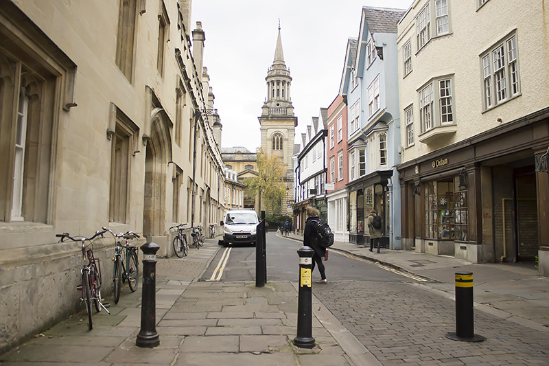 walking round Oxford