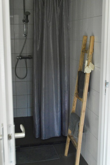 Douchegordijn decoratieladder zeep