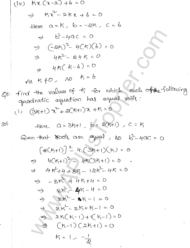 Ml Aggarwal Icse Solutions For Class 10 Maths Chapter 5 Quadratic