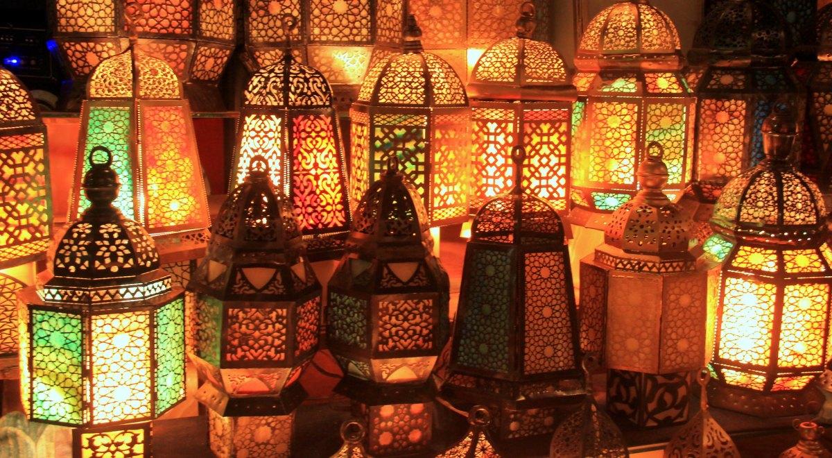 lamps for sale at the khan el khalili market
