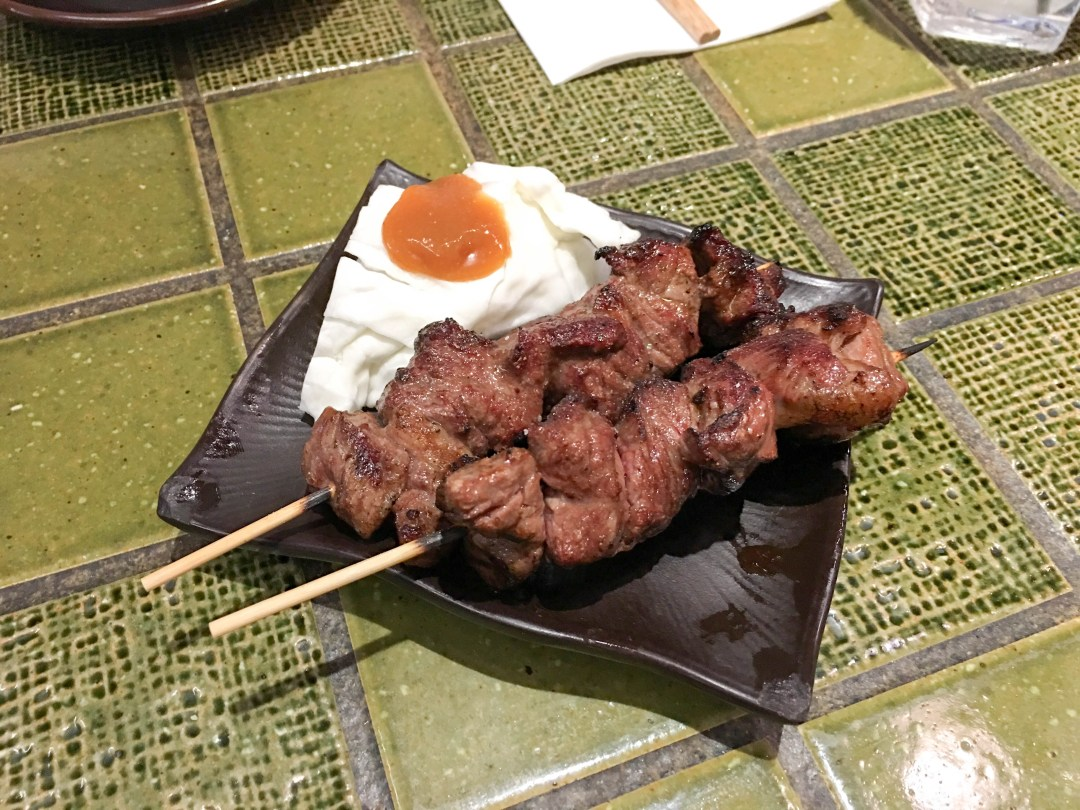 Grilled wagyu skewers
