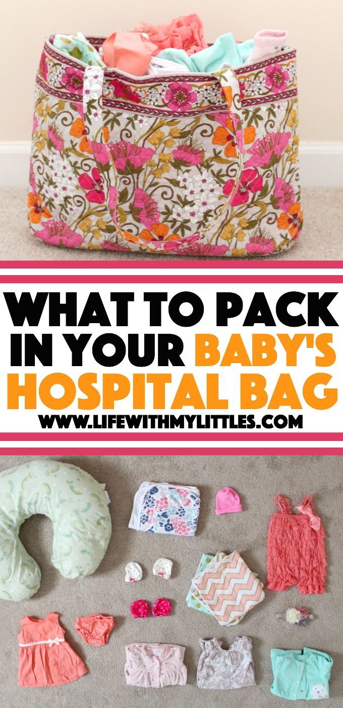 Not only should you pack a hospital bag for you when you're pregnant, but you should pack a hospital bag for your baby! Here's what an experienced mom packed the first time, what she didn't use, and what she packed the second time! A super helpful list of what to pack in your baby's hospital bag!