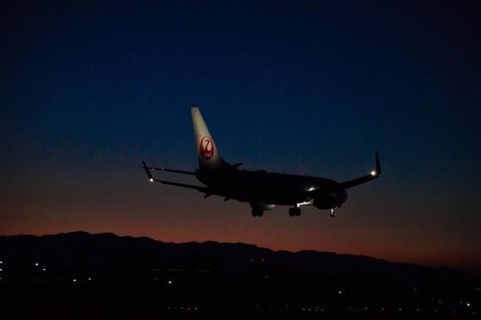 171204 JALボーイング737-800着陸