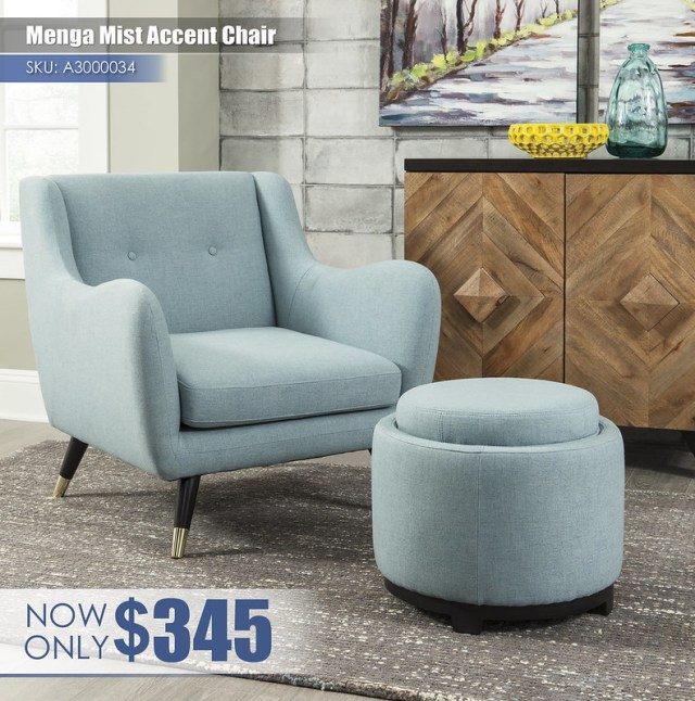A3000034-33 - Menga Mist Accent Chair $345