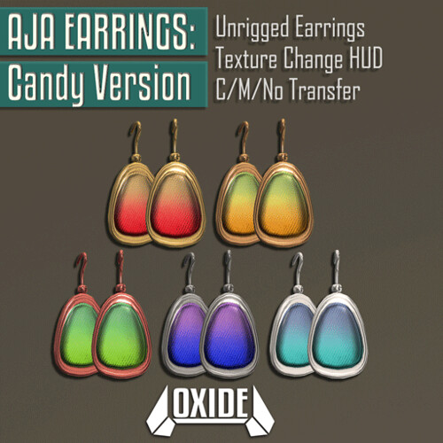 OXIDE Aja Earrings: Candy Version! - Candy Fair 2017