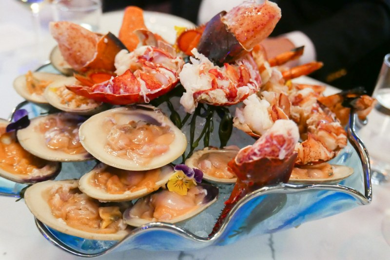 Seafood Platter - Charred Shrimp Cocktail, Raw Topneck Clams and Whole Maine Lobster