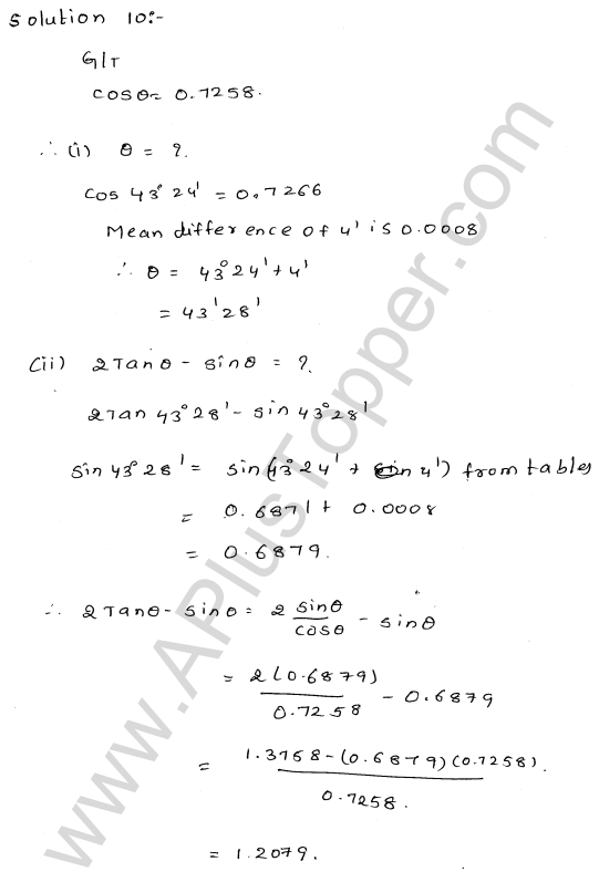 ml-aggarwal-icse-solutions-for-class-9-maths-ch-19-trigonometric- tables-9