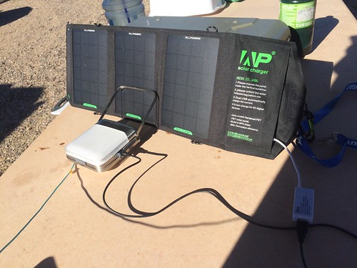 Gila Box Riverview Campground solar charging 1