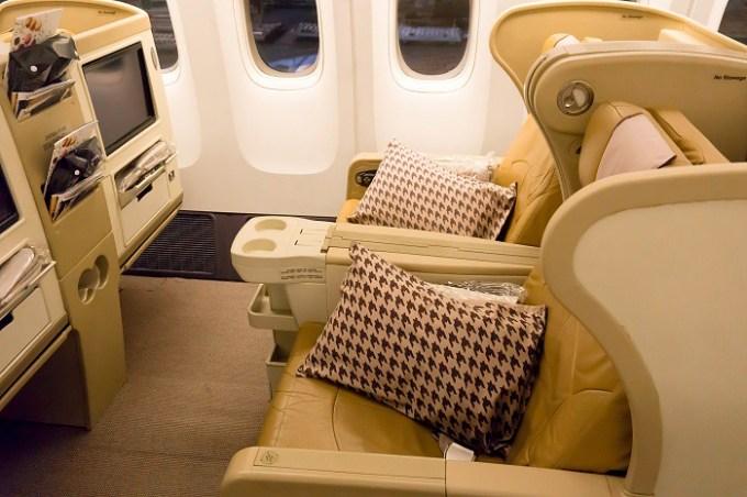 171118 シンガポール航空B773ビジネスクラス