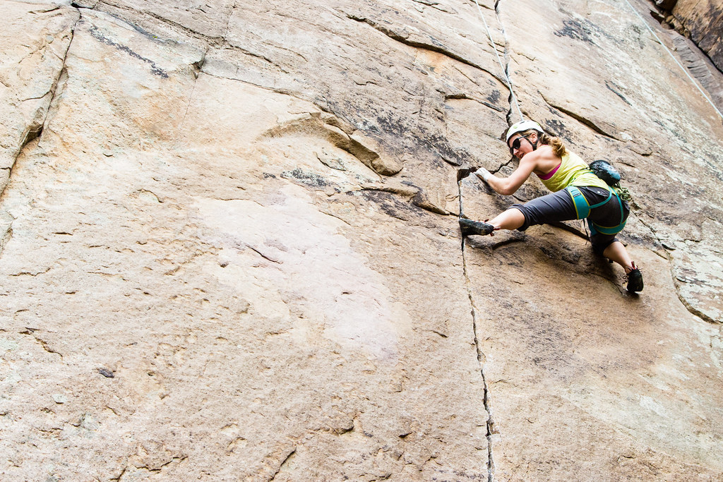 Leslie climbing in Chattanooga