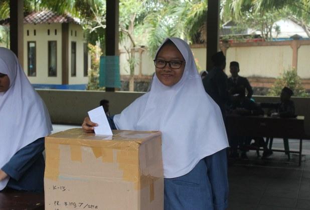 Pemilu Raya OSIS SMP Bustanul Makmur 2017/2018