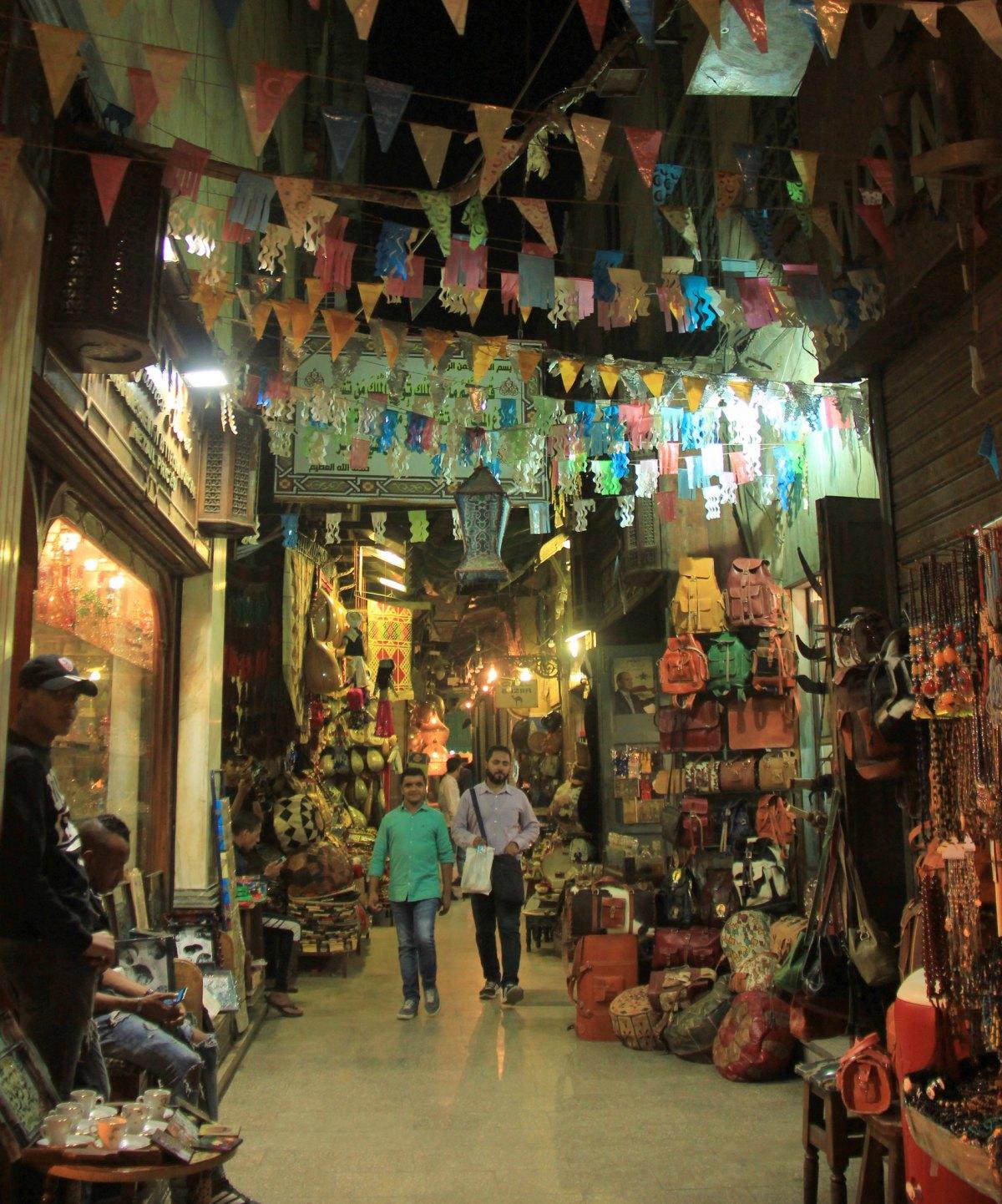 Buntings in the lanes of khan el khalili market