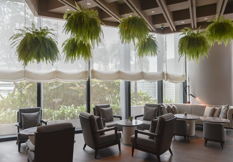 inside the sunroom at andaz singapore