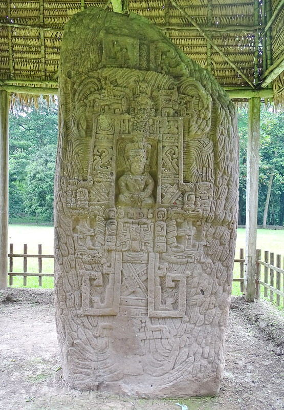Quirigua Estelas Plaza Central Ciudad Maya Sitio Arqueologico Guatemala 14