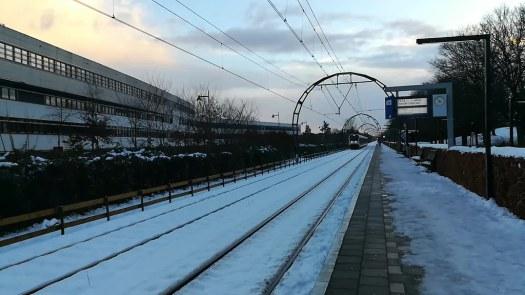 Tren y nieve en Hilversum Sportpark