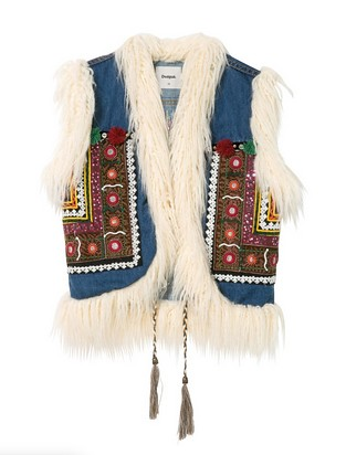 denim vest - hippie chic - desigual