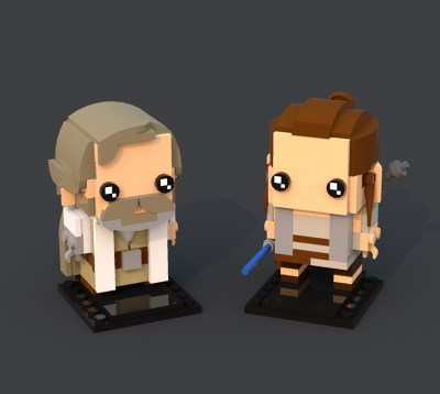 BrickHeadz: Luke Skywalker & Rey (Resistance)
