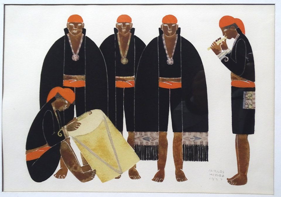 Carlos Merida pintura trajes tipicos Museo Nacional Arte Moderno Ciudad de Guatemala 04