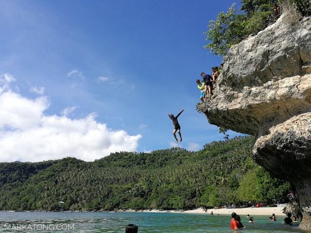 Samal Island Canibad Beach Cliff