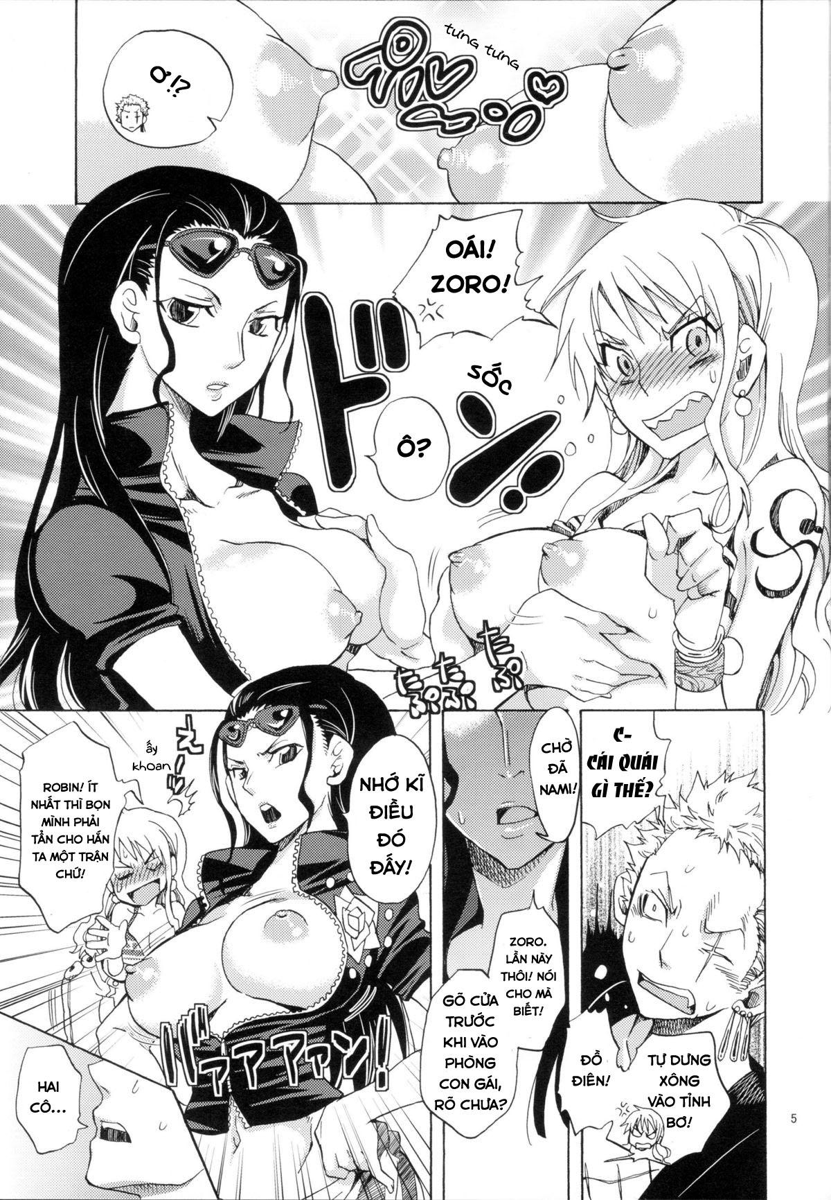 Hình ảnh  in One Piece Hentai Thịt Nami Robin Seichou Shimashita