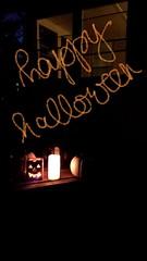 Halloween set up