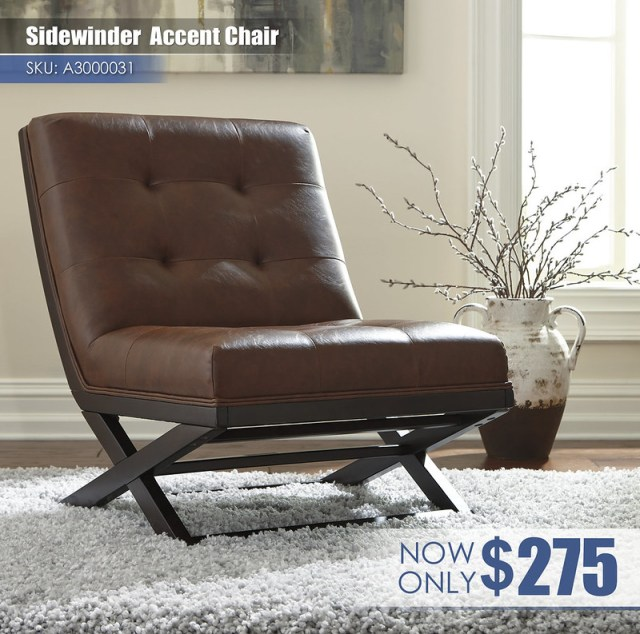A3000031 - Sidewinder Accent Chair $275