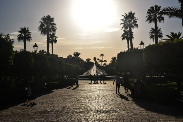 Koutoubia Gardens at Sunset