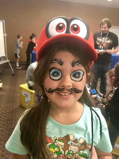 Annie as Mario