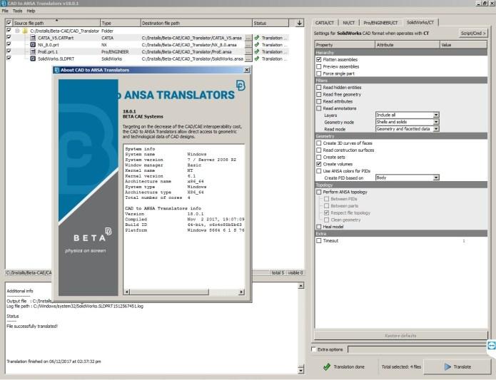 Working with BETA CAE CAD Translator 18.0.1 full license