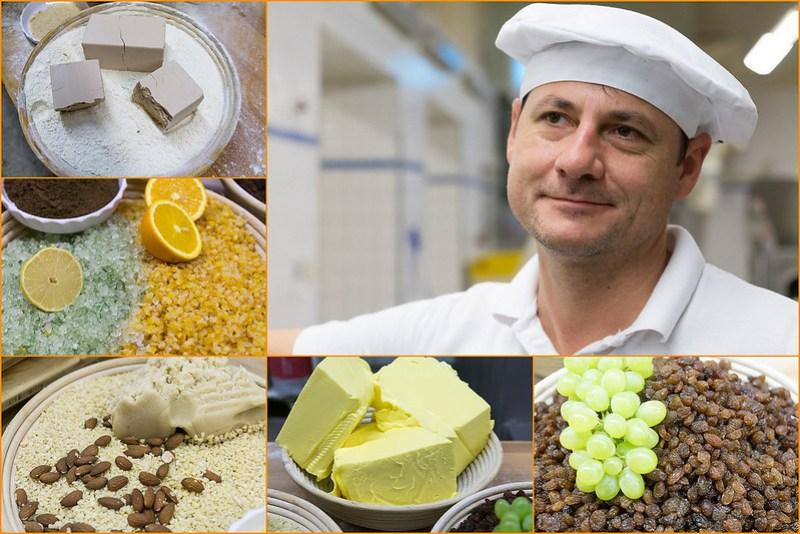Zutaten und der Bäckermeister