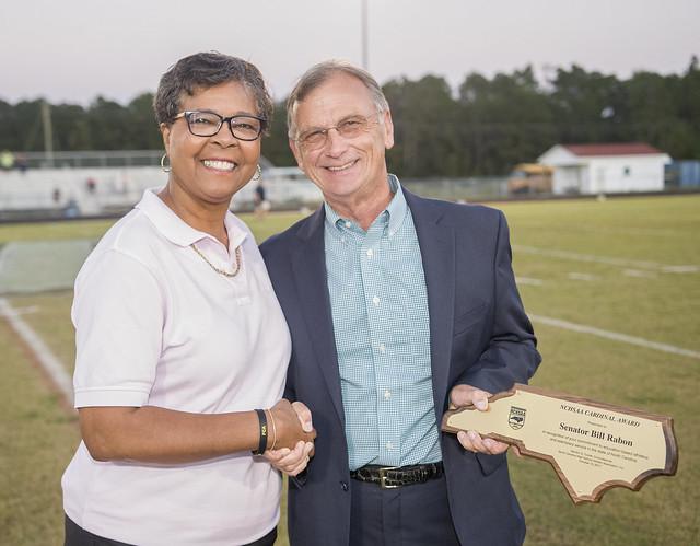 Dr. William Rabon award at football game