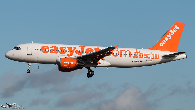 G-EZUG A320 Easyjet..birdstrike closecall!