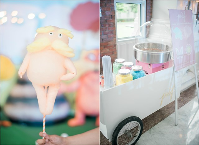 the lorax cotton candy cart
